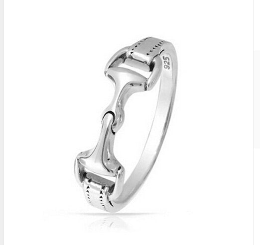 J-L (usa5) Sterling Silver horse snaffle ring - Look 4 Lifestyle