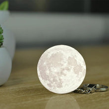 Load image into Gallery viewer, White Light / Other 3D Moon Lamp keyring - Look 4 Lifestyle