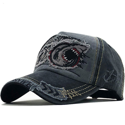 Baseball Hat-Shark Embroidery - Look 4 Lifestyle