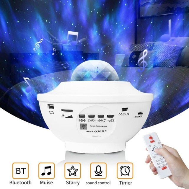 White / Other Galaxy bluetooth projector & speaker (Limited edition) - Look 4 Lifestyle