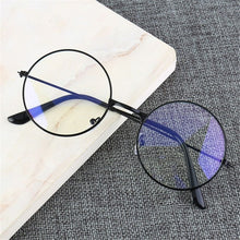 Load image into Gallery viewer, United Kingdom / Light black Anti-blue light Glasses Retro Round Frame - Look 4 Lifestyle