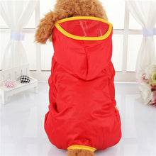 Load image into Gallery viewer, Red / XS Pet-Waterproof hooded rain coat - Look 4 Lifestyle