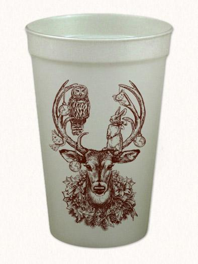 Christmas Deer Cups by Alexa Pulitzer (Local Delivery Only)