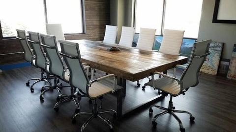 Reclaimed Wood Long Dining Table Conference Table Free Shipping - Long meeting table