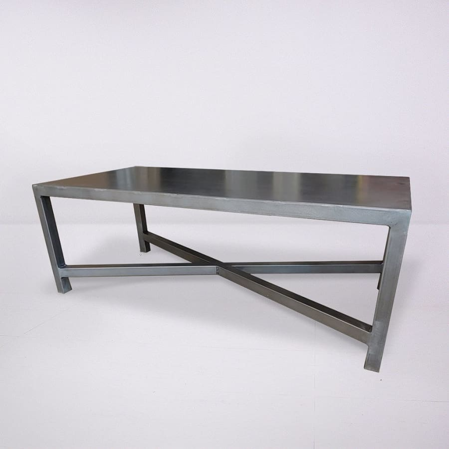 All Metal Welded Steel Crossed Leg Coffee Table - Free Shipping - Coffee Tables
