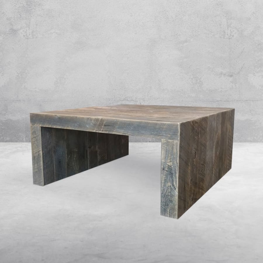 Peachy Reclaimed Wood Solid Wood Square Coffee Table Free Shipping Pabps2019 Chair Design Images Pabps2019Com