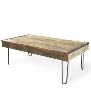 Industrial Reclaimed Wood Coffee Table Steel Accents - Free Shipping - Coffee Tables