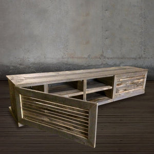 Reclaimed Wood Large Mid Century Modern Media Console - Free Shipping - Consoles