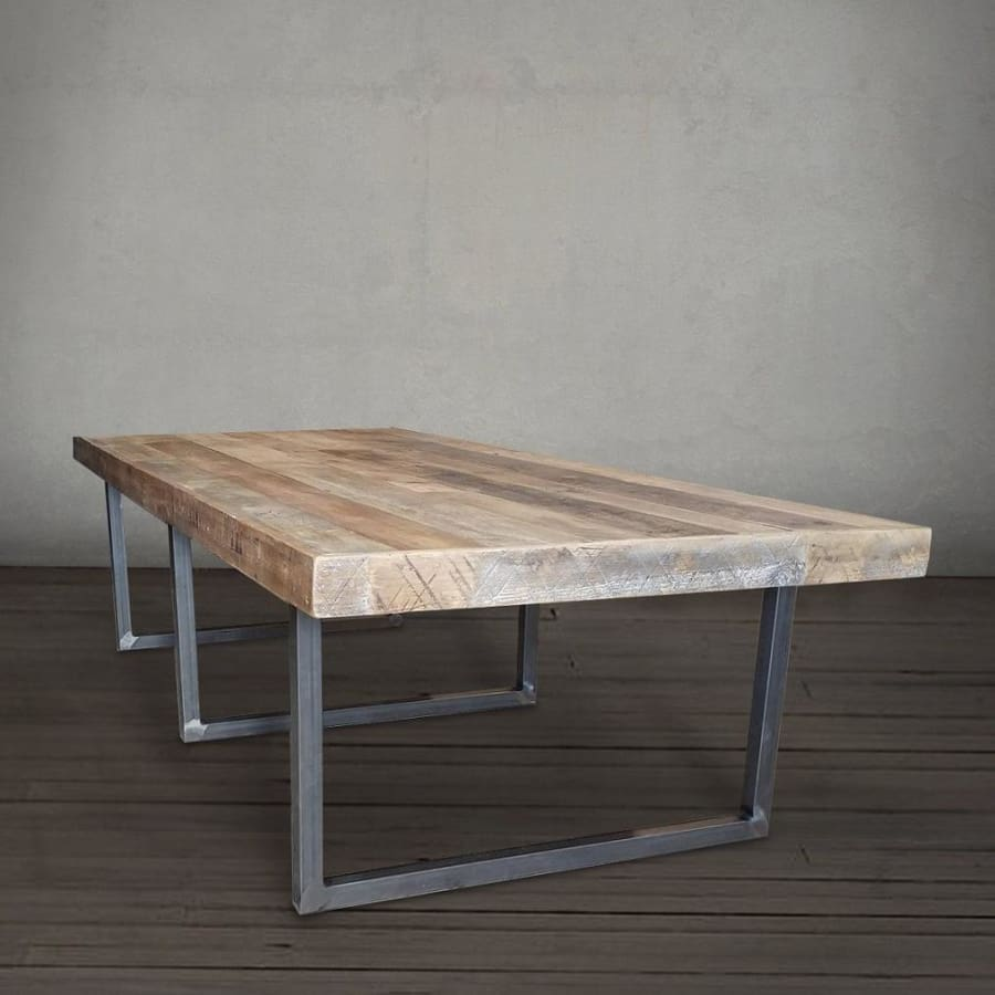 Industrial Reclaimed Wood Bar Height Table, Pub and Cafe ...