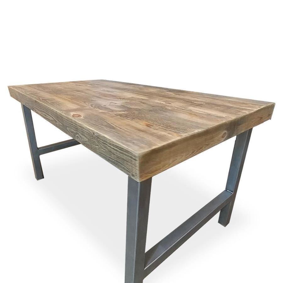 Reclaimed Modern Wood and Metal Dining Table With A Frame Legs - Free  Shipping