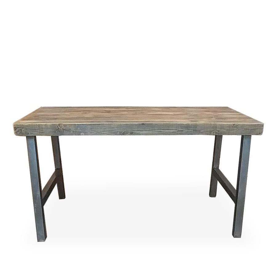 Reclaimed Modern Wood And Metal Dining Table With A Frame Legs - Free Shipping - Dining Table And Bench