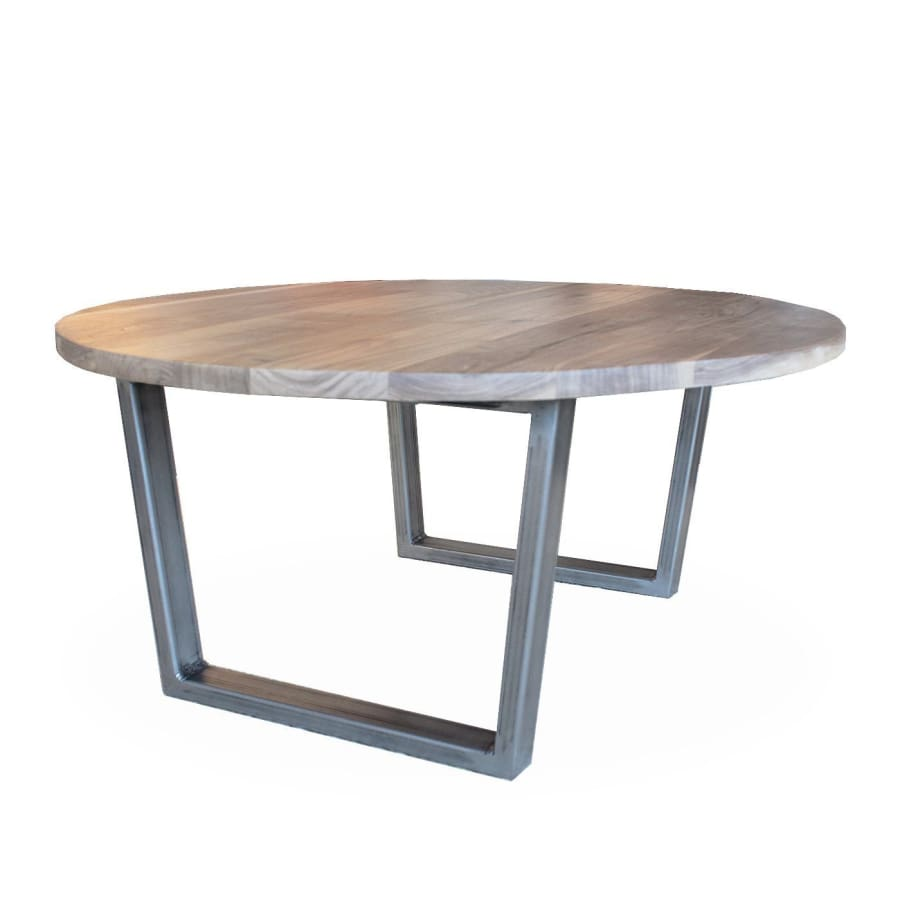 Round Coffee Table With Metal Legs: JW Atlas Wood Co