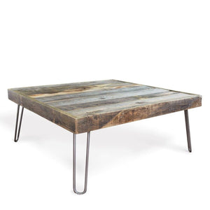 Reclaimed Wood And Metal Leg Square Coffee - Free Shipping - Coffee Tables
