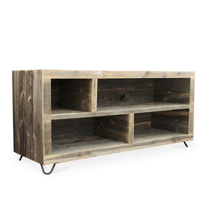 Reclaimed Wood Media Console Adjustable Bookshelf Bookcase - Free Shipping - Bookshelf Bookcase Media Console