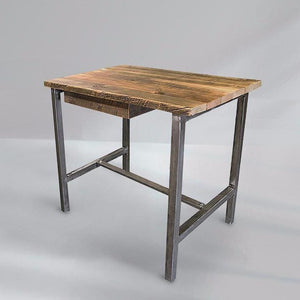 Reclaimed Wood And Metal Office Desk - Free Shipping - Desks