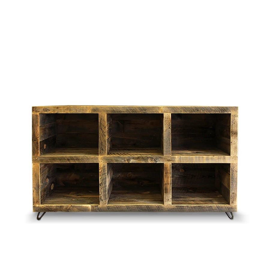 Reclaimed Wood Media Console Bookshelf - Free Shipping - Consoles
