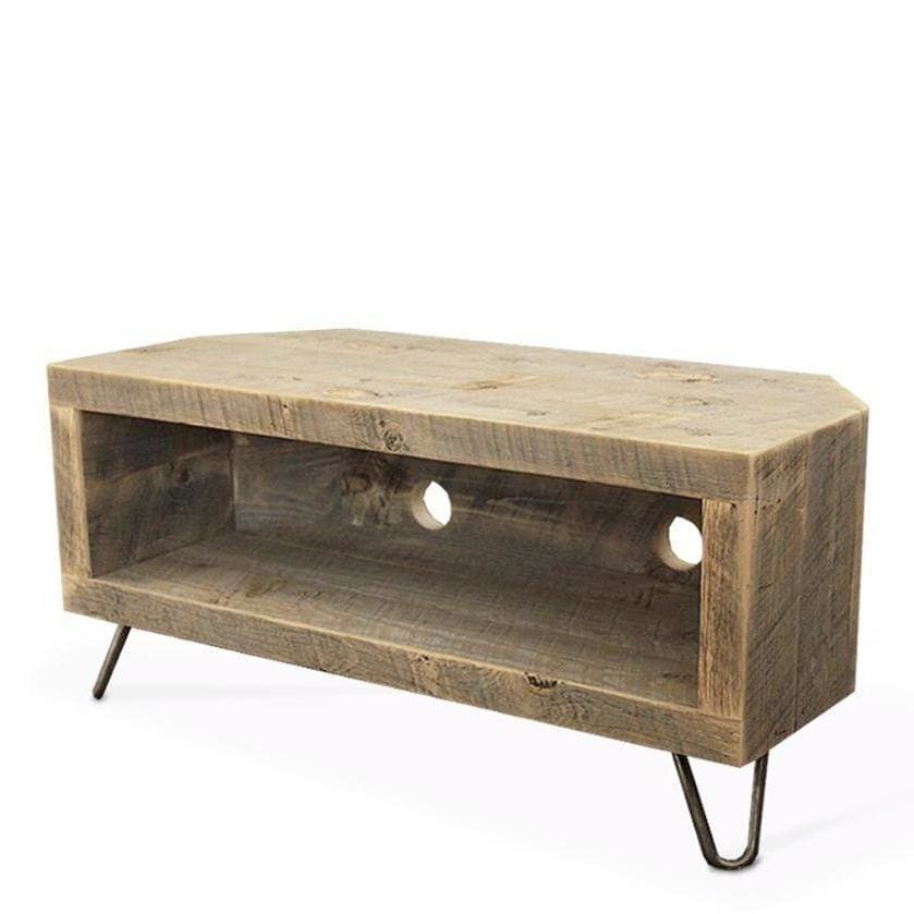 pretty nice 508d3 f308e Reclaimed Wood Corner Unit Television Stand, Media Console ...