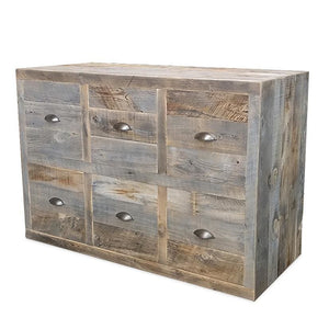 Reclaimed Wood Dresser Console Grey Wood Chest Of 6 Drawers - Free Shipping - Coffee Tables