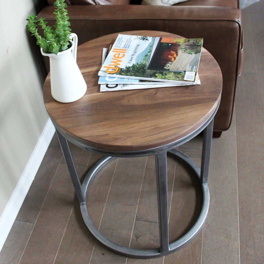 Round Coffee Table And End Tables 8