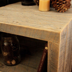 Reclaimed Wood Side Table / Night Stand - Free Shipping - Side And End Tables