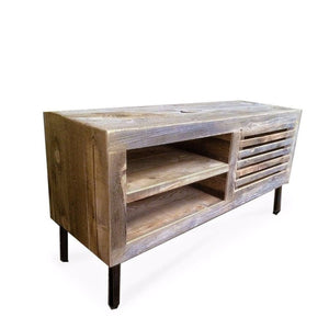 Reclaimed Wood Media Console 56 Straight Steel Legs - Free Shipping - Consoles