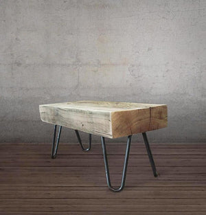 Reclaimed Wood Beam Bench Small Hairpin Leg Bench Or Side Table - Free Shipping - Benches