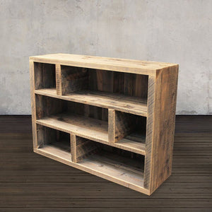 Reclaimed Wood Media Console Bookshelf Adjustable Shelves - Free Shipping - Consoles