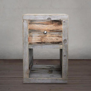 Reclaimed Wood Nightstand End Table - Free Shipping - Side And End Tables