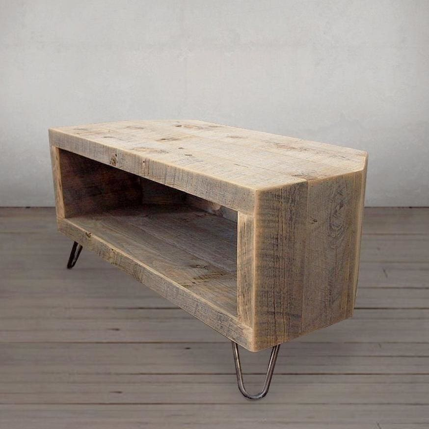 Reclaimed Wood Corner Unit Television Stand Media Console Tv Stand