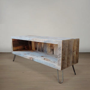 Reclaimed Wood Media Console - Free Shipping - Reclaimed Wood Media Console / Tv Stand 48