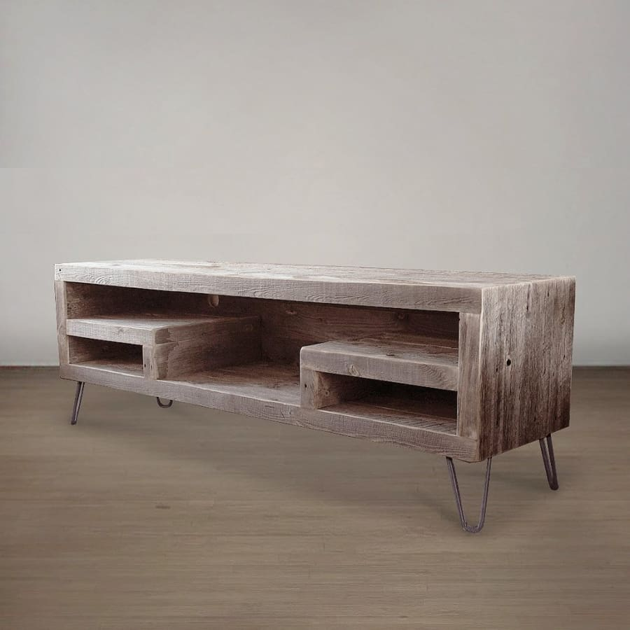 buy popular b8691 9857a Modern Reclaimed Wood Television Stand, Open Shelving - Free Shipping