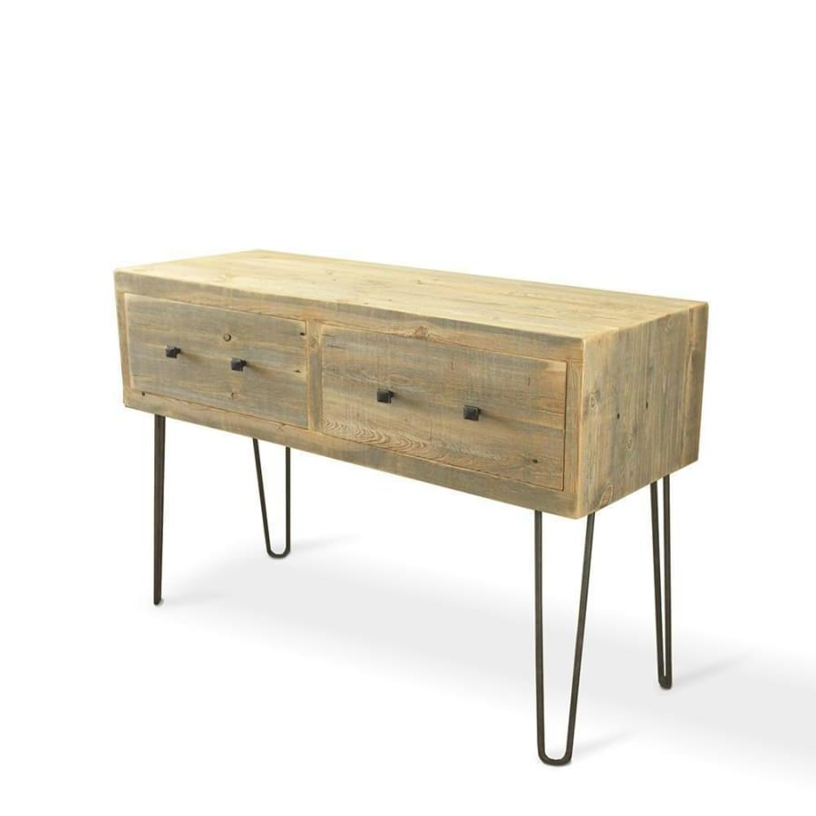 Reclaimed Wood Media Console Tall Television Stand With Drawers - Free Shipping - Consoles