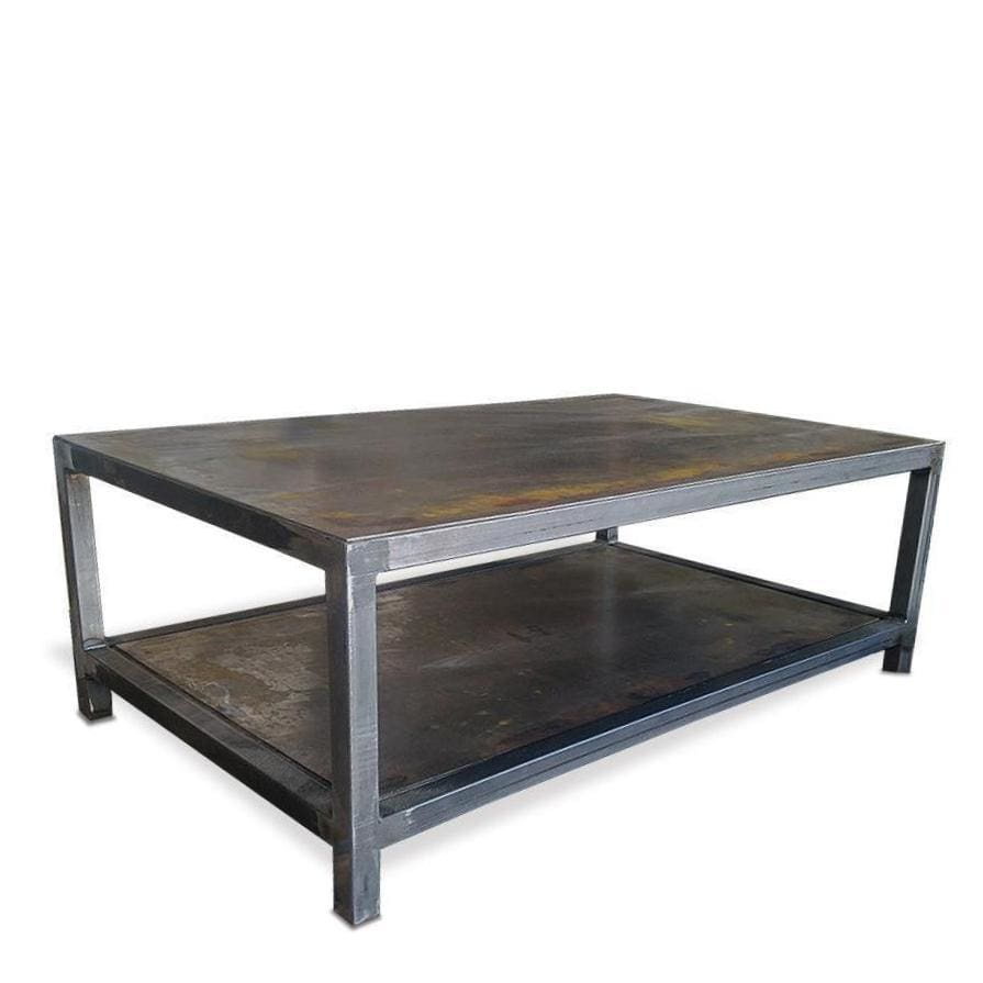 Sensational Welded Steel Two Tier Bi Level Coffee Table Modern Metal Gmtry Best Dining Table And Chair Ideas Images Gmtryco