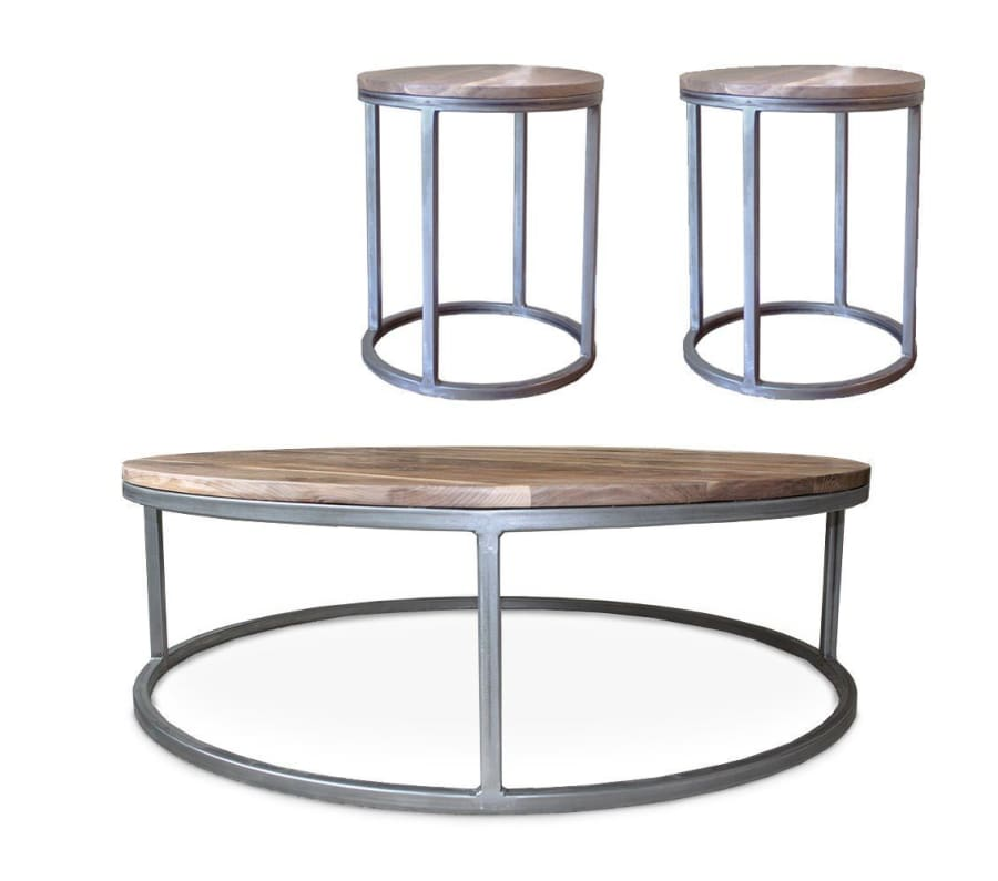 Round Coffee Table And End Tables 1