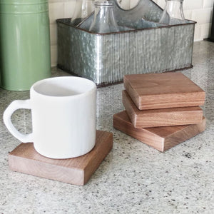 Solid Walnut Wood Coasters - Free Shipping - Trays