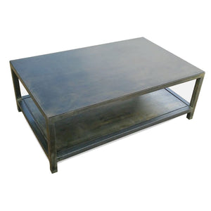Welded Steel Two Tier Coffee Table - Free Shipping - Coffee Tables