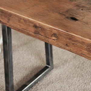 Reclaimed Wood Beam Bench Tube Steel Legs - Free Shipping - Benches