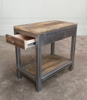 Reclaimed Wood And Metal Coffee And End Tables With Drawers Set - Free Shipping - Coffee Tables