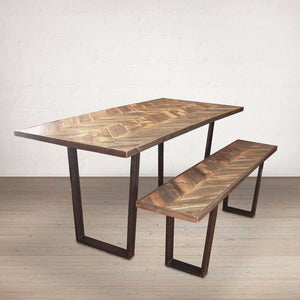Reclaimed Wood Dining Table And Bench - Free Shipping - Dining Table And Bench