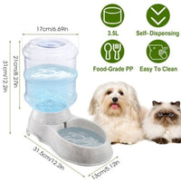 3.5L/1Gal Self-Dispensing Gravity Water Dispenser for Pets  Dogs and Cats