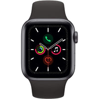 Apple Watch Series 5  44MM - Space Gray Aluminum Case with Black Sport Band