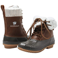 ArcticShield Women's Debra Duck Bean Boots - Waterproof  Insulated  Lace up  for Rain and Snow