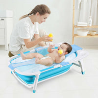 Baby Bathtub with Block - Foldable  Collapsible  Portable