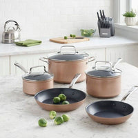 KitchenAid Hard Anodized Non-Stick Cookware  Toffee Delight - 8 Piece Set