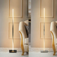 "48"" Modern Standing Floor Lamp with Helix LED"
