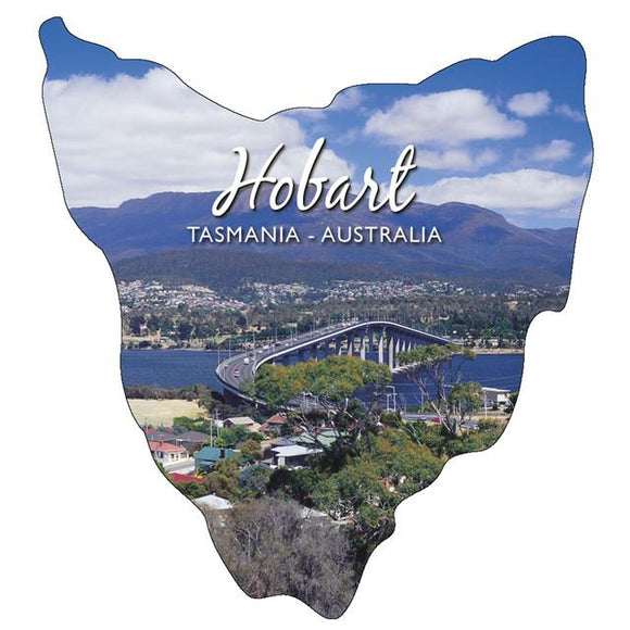 MAGNET SHAPED HOBART TAS (map shape)