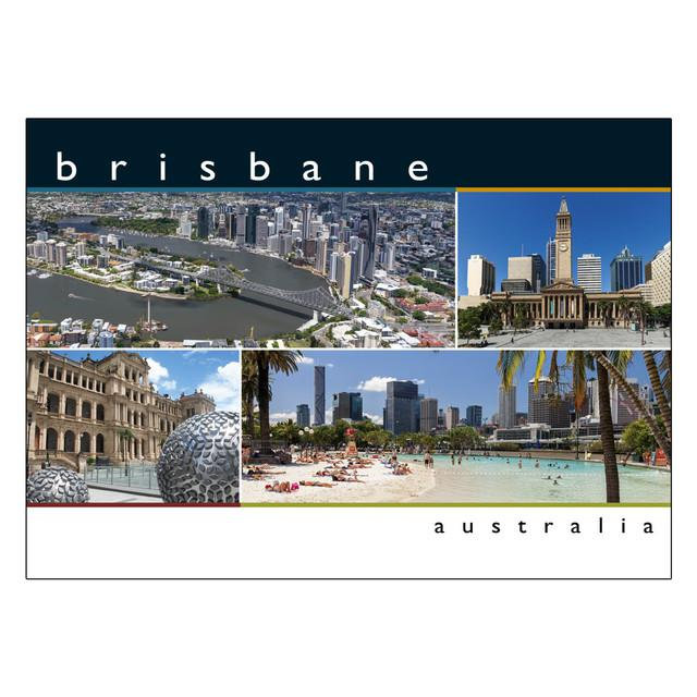 POSTCARD BRISBANE 4 SC WITH CASINO