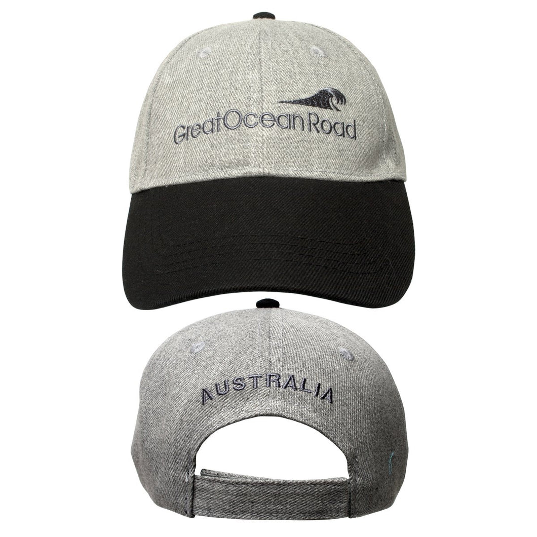 CAP AC GREAT OCEAN ROAD LT GREY MARLE