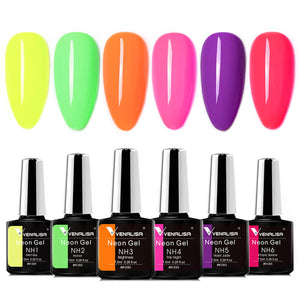 Neon Gel Polish 6 Color Set- Venalisa