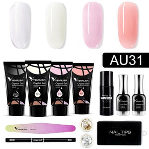 AU31 Crystal Gel Nail Extension Kit - VENALISA